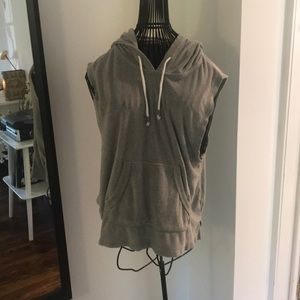 Terry Cloth Sleeveless Work Out Top
